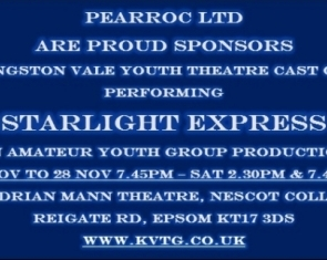 Pearroc are proud sponsors of KVTG's Starlight Express!!